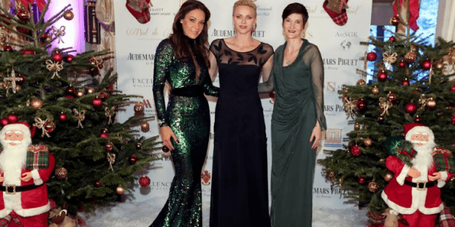Sandrine Knoell-Garbagnati, H.S.H. Princess Charlene and Agnès Falco (Secretary General of the Princess Charlène Foundation)©Laurent Ciavaldini
