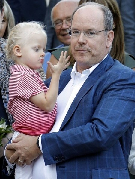 Princess Charlene, Prince Albert, Jacques and Gabriella at annual picnic 2017