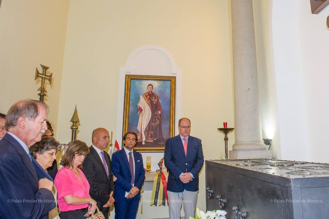 Prince Albert II visited the Church of Our Lady of Monte