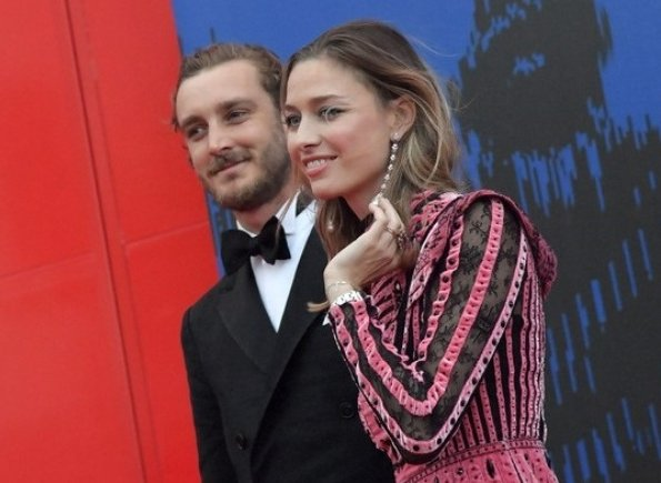 Pierre Casiraghi and Beatrice Borromeo at Venice Film Festival