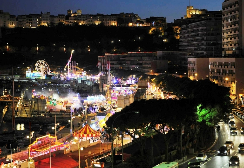 Funfair in Port de Monaco