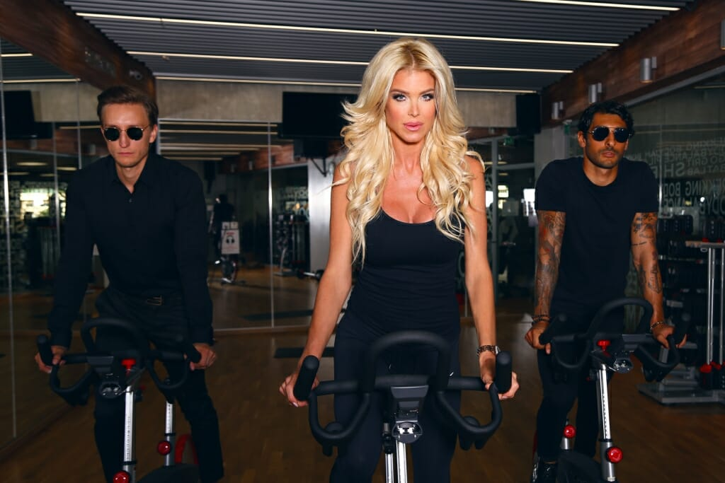 Cycling with Victoria Silvstedt
