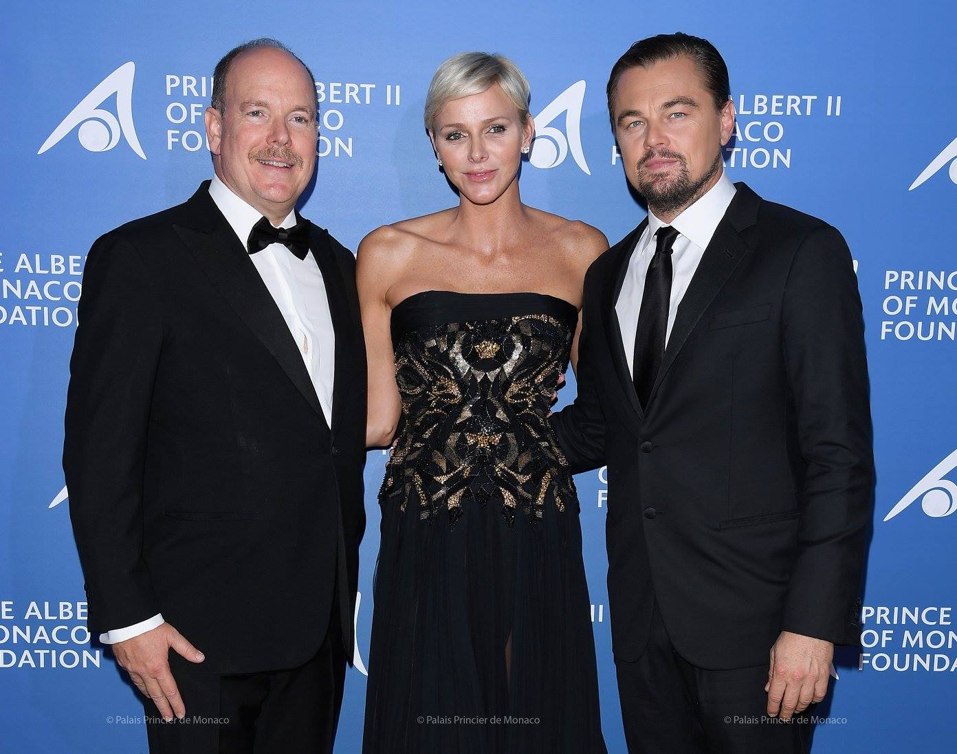 Leonardo DiCaprio, Princess Charlene and Prince Albert II