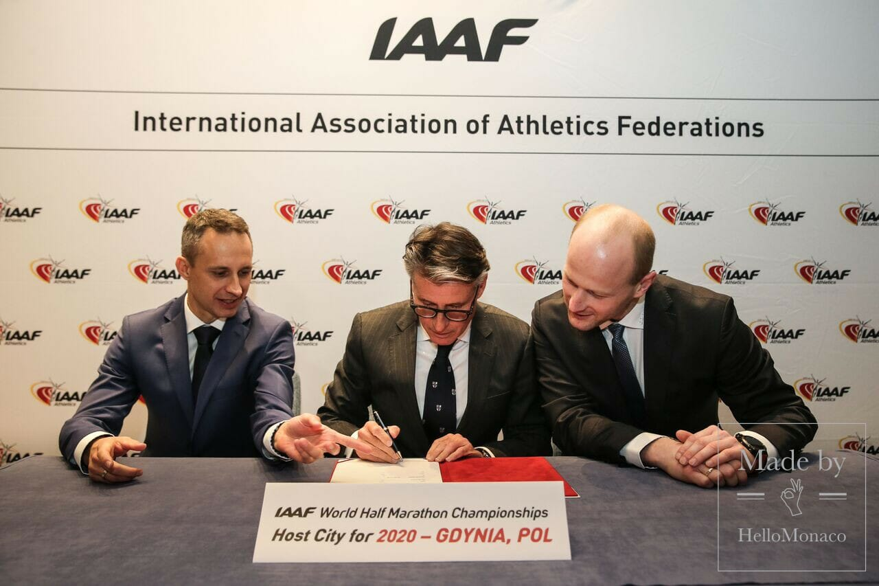 Gdynia host city signing Philippe Fitte for the IAAF1