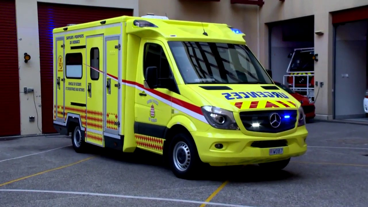 New yellow ambulances for Monaco