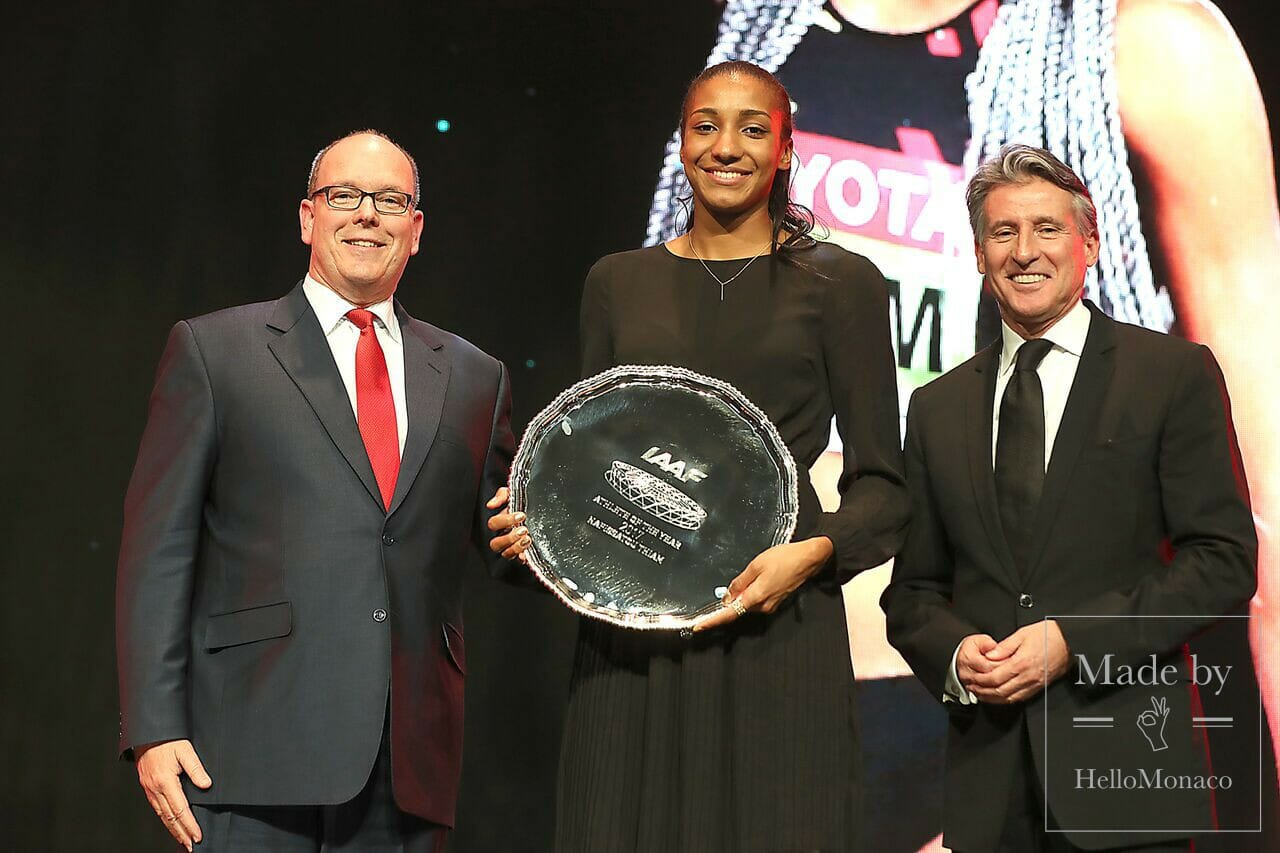 Prince Albert, Nafi Thiam and Sebastian Coe