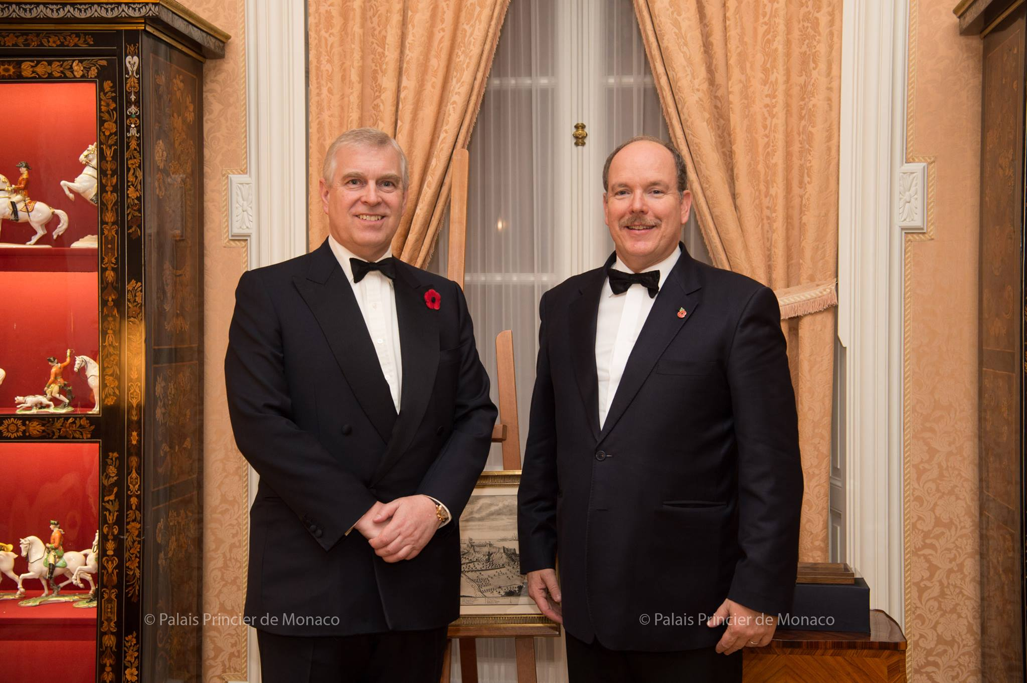 Prince Albert II welcomed Prince Andrew, Duke of York