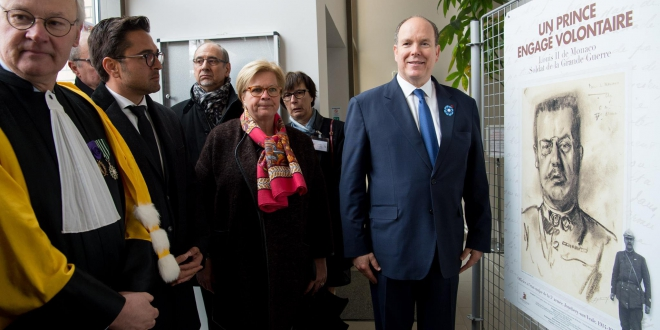 Prince Albert II at Prince Louis II exhibition