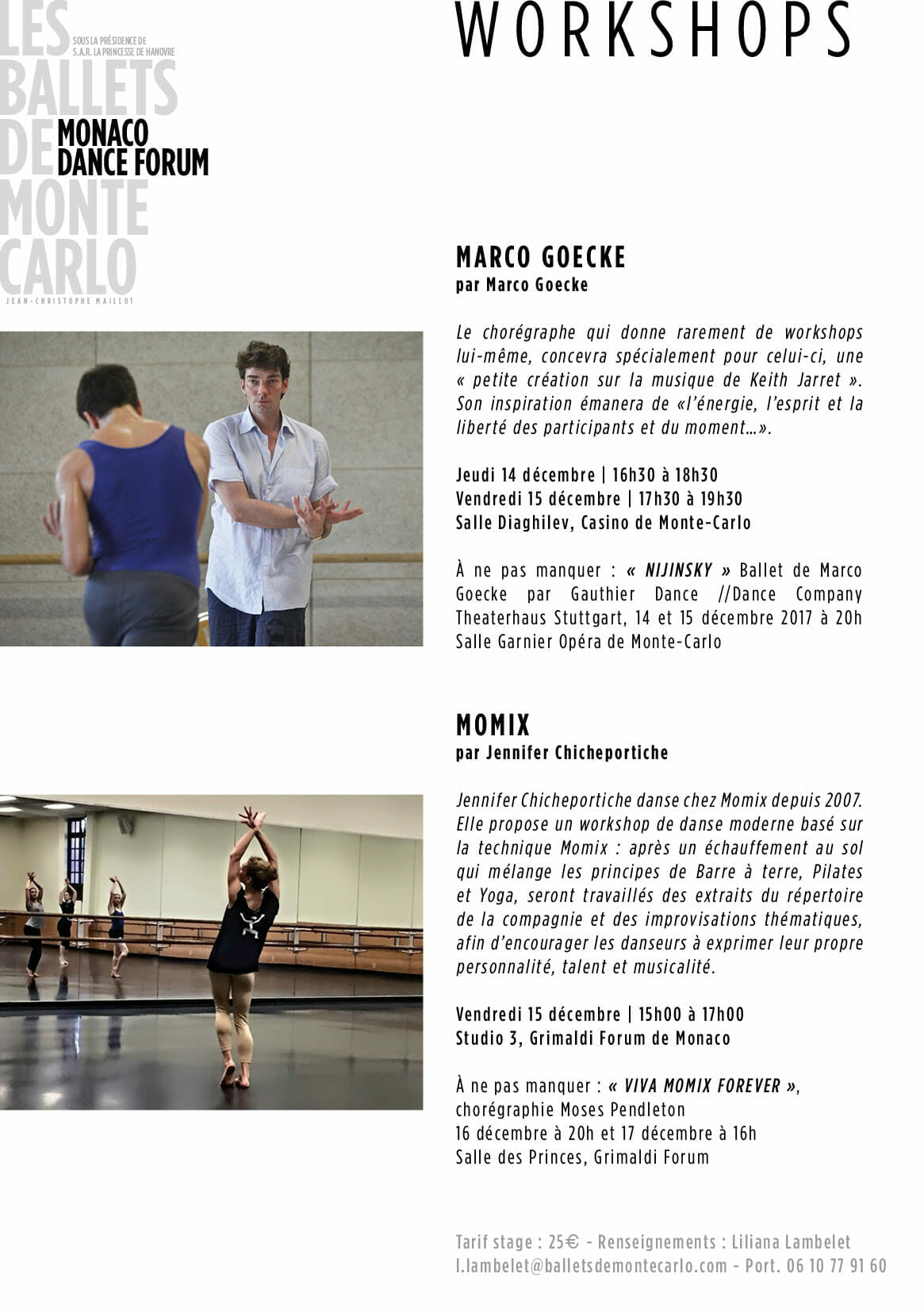 Мастер-классы и выступления в рамках Танцевального форума Монако