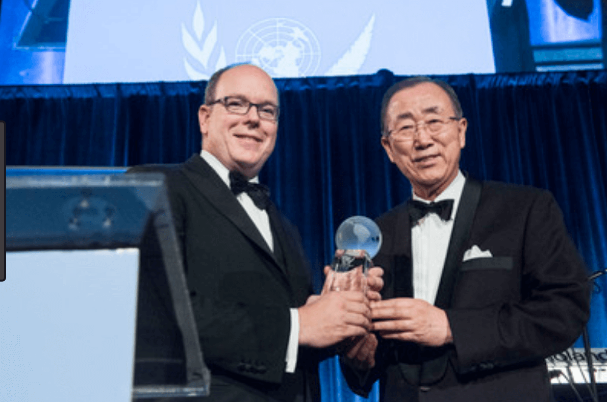 Ban Ki-moon and Prince Albert II.