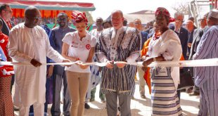 Prince Albert II and Princess Charlene Burkina Faso