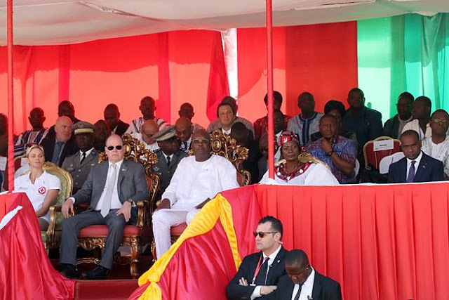 Prince Albert II and Princess Charlene Burkina Faso