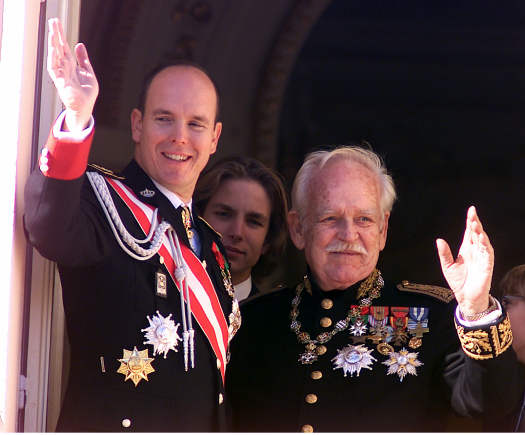 Prince Albert II and Rainier III