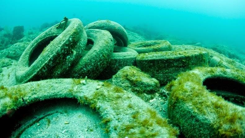Tire underwater