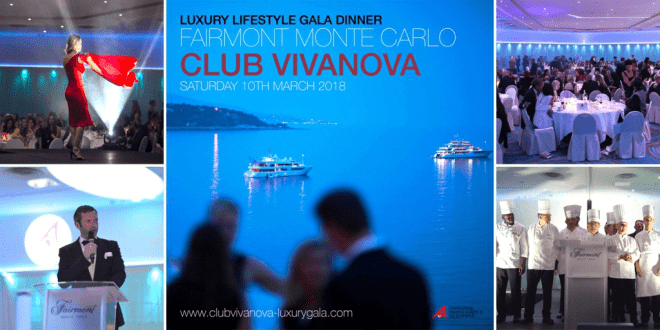 Club Vivanova Monte Carlo, 2018, Luxury Lifestyle Gala Dinner