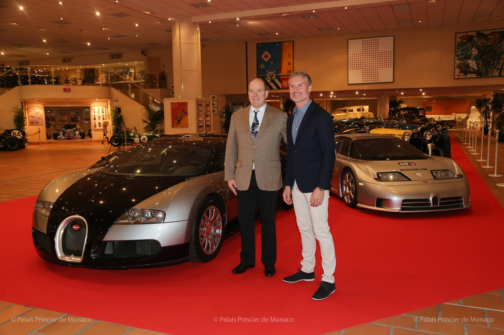Prince Albert II visits his Bugatti Exhibition