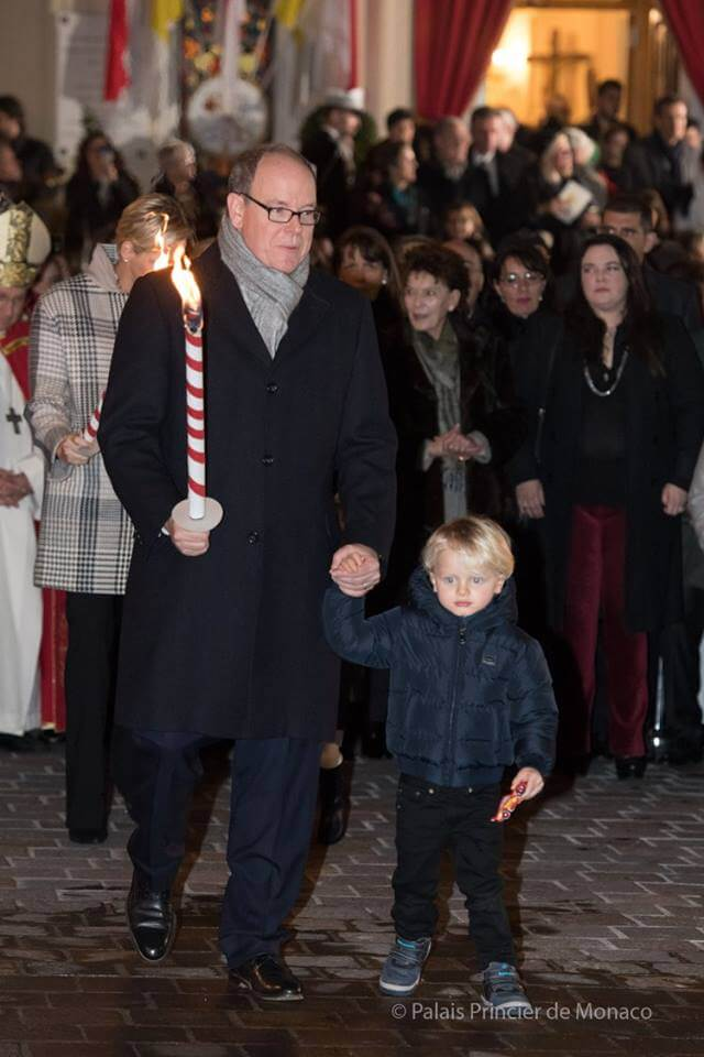 Princely Family attends Saint Devote Celebrations