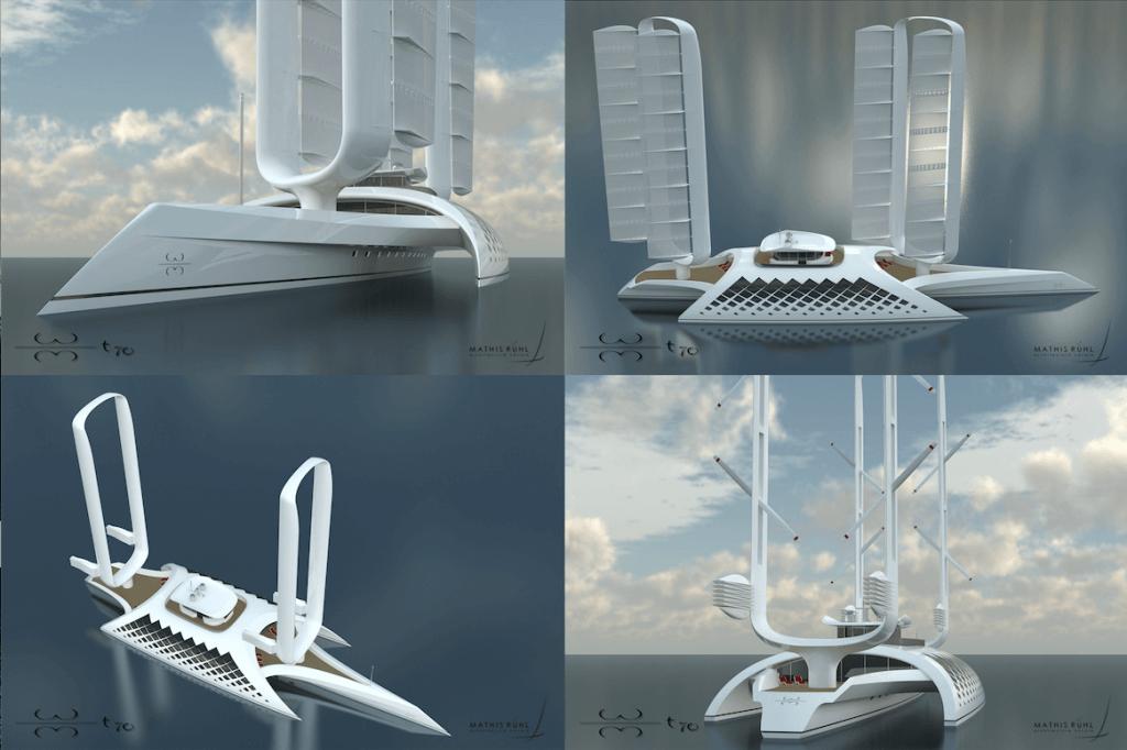 70-metre trimaran superyacht concept
