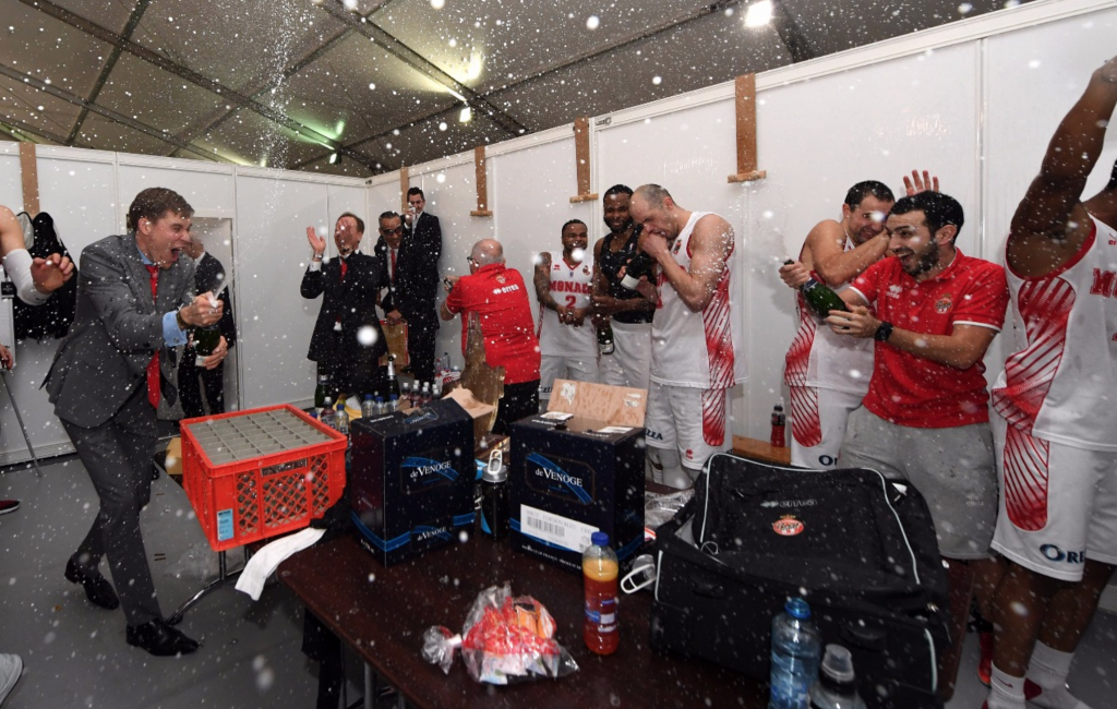 AS Monaco Leaders Cup Champagne celebrations