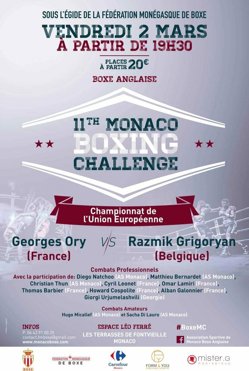 11th Monaco Boxing Challenge