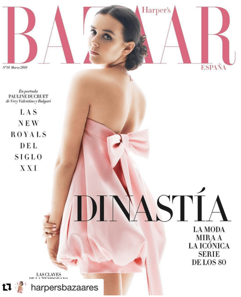 Pauline Ducruet on the cover of Harper's Bazaar