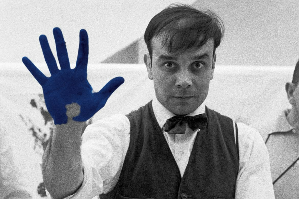 Yves Klein, one of the artists on display at the Principality's Louis Notari Library