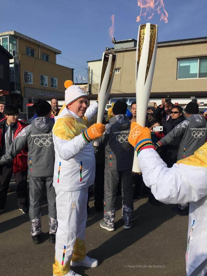 Prince Albert II at the Winter Olympics