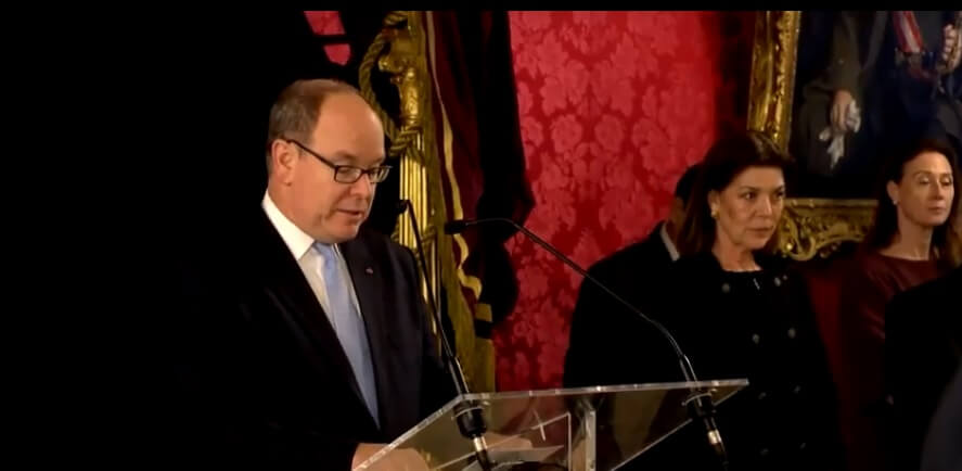 Prince Albert II presents Medals