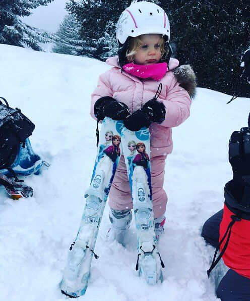 Princess Gabriella's first time skiing