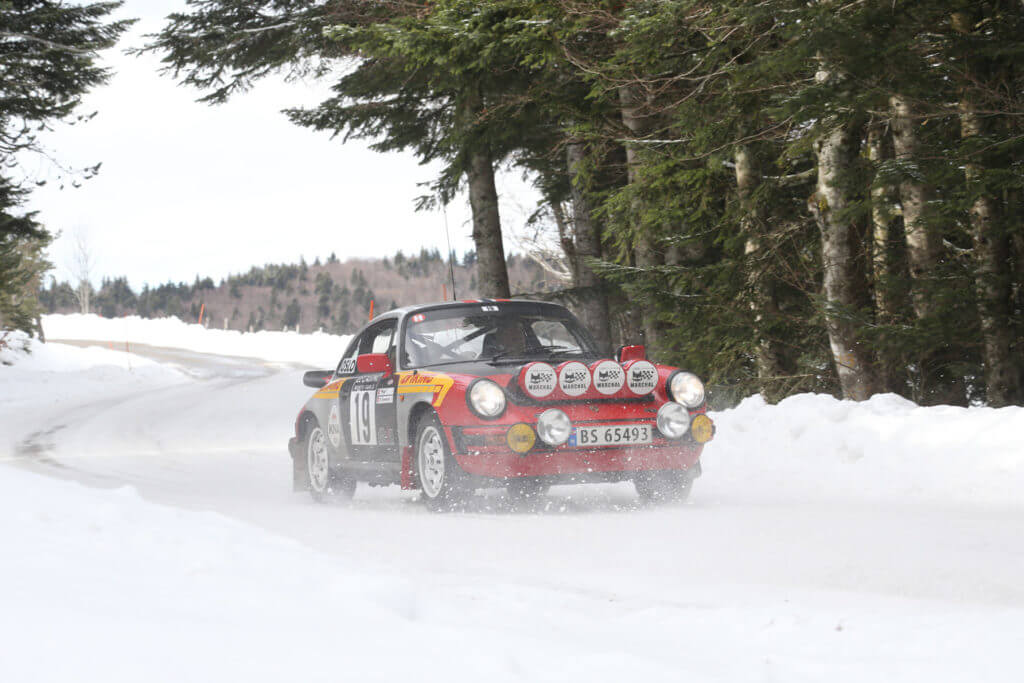 Photo of Podium of the the 21st Rally Historique of Monte Carlo