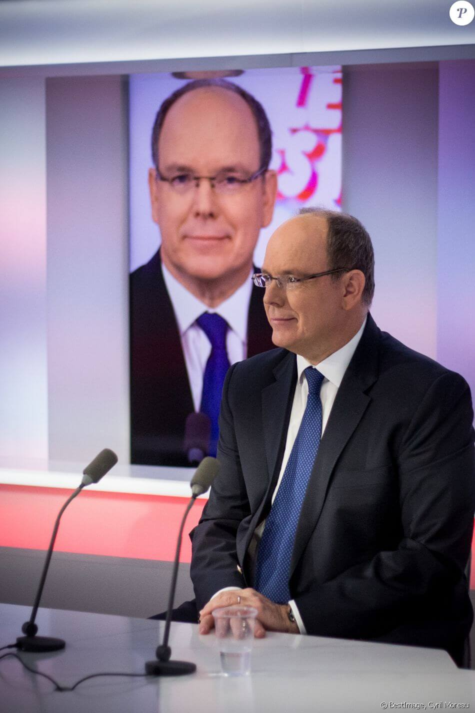 Prince Albert II was interviewed by Cyril Viguier on the Public Senate channel