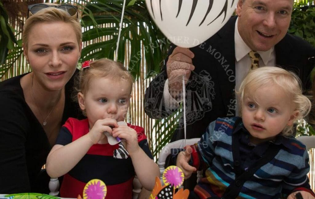 Prince Albert and Princess Charlene and their twins
