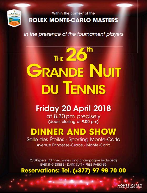 Гала- вечер турнира Rolex Monte-Carlo Masters