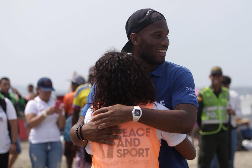 Didier Drogba Colombia Peace and Sport