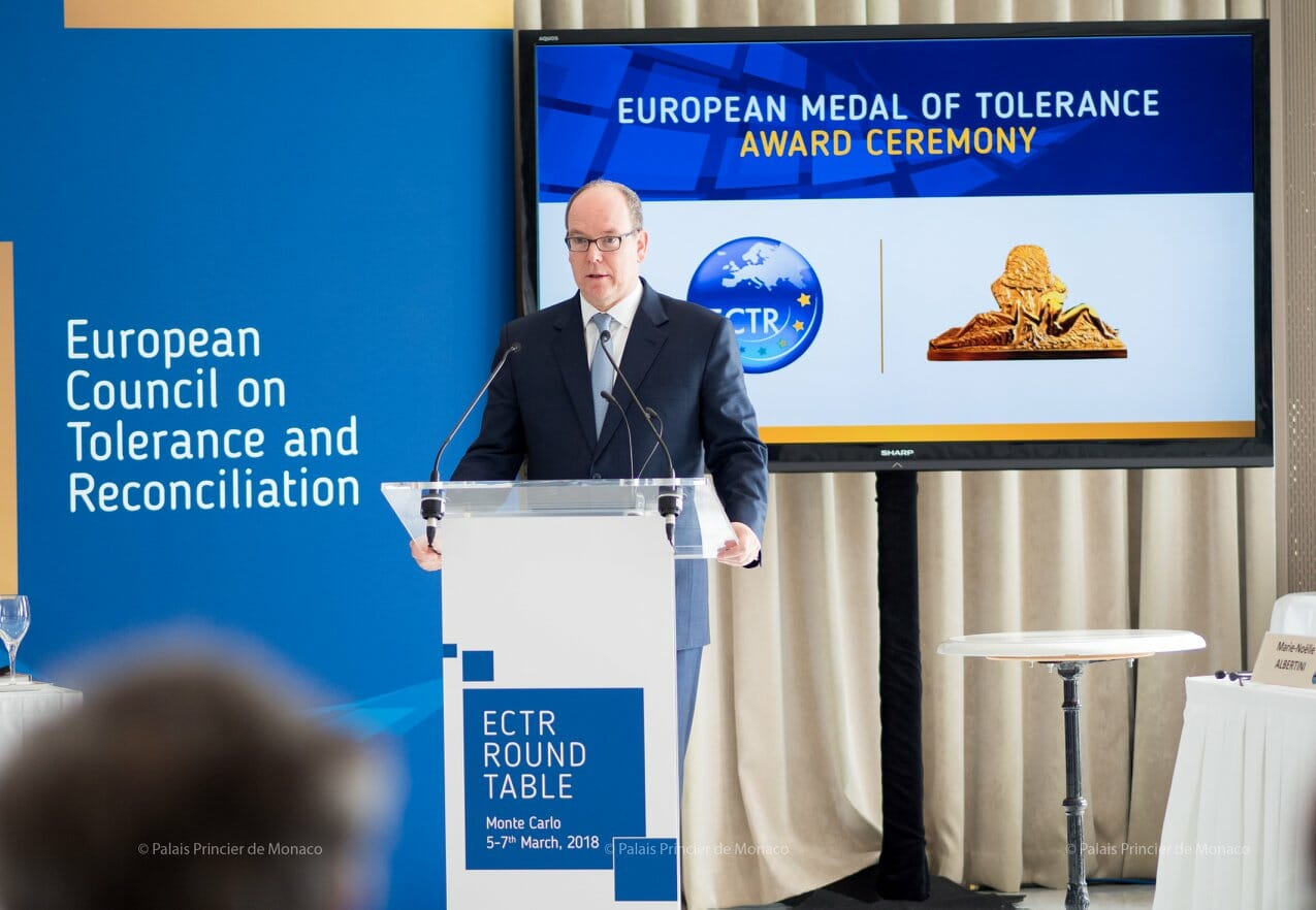 Photo of Prince Albert II Honoured with European Medal of Tolerance and other Princely news