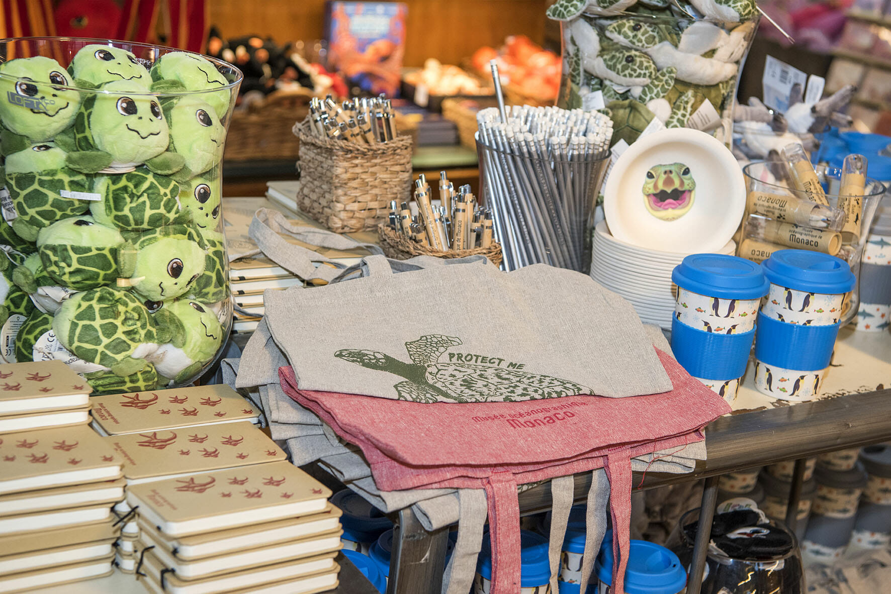 Oceanographic Museum Shop environmentally-friendly products