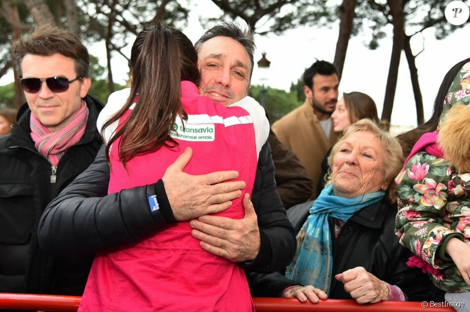 Pauline Ducruet hugs her father, Daniel Ducruet