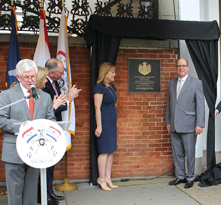 Prince ALbert unveils Princess Alice plaque