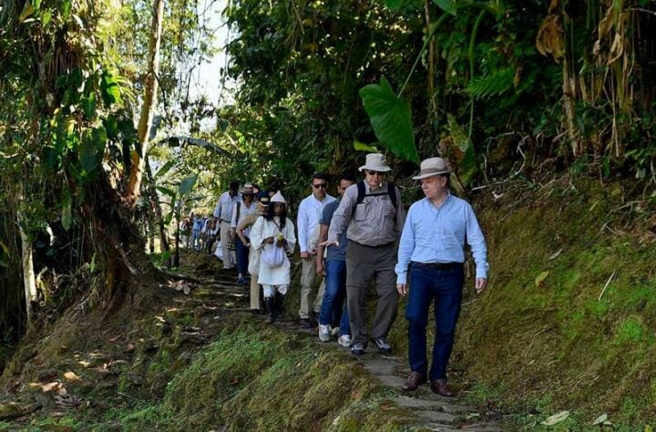 Prince Albert and President of Colombia travel to visit ancient lost city and Kogi people