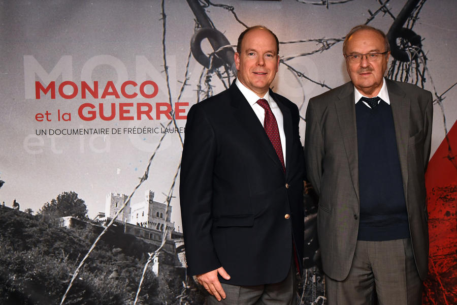 Prince Albert and director Frédéric Laurent