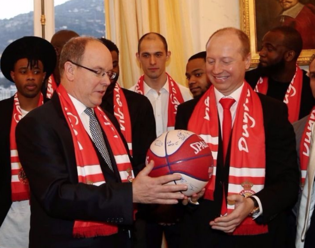 Sergey Dyadechko and Prince Albert II