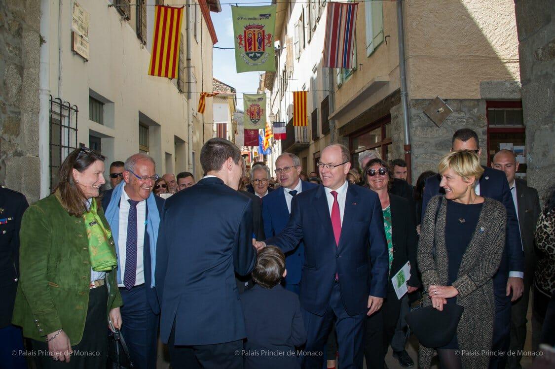 Prince Albert visits Prats-de-Mollo-la-Preste
