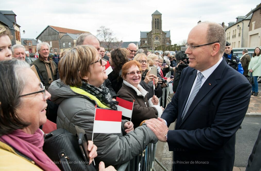Prince Albert visits Aisne and Ardennes
