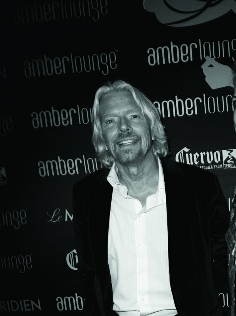 Amber Lounge Monaco celebrity guest Sir Richard Branson