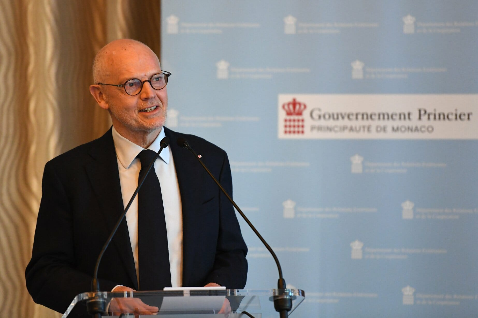 HE Serge Telle opened the Diplomatic Conference
