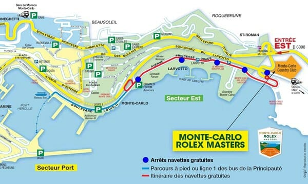 Monte-Carlo Masters: Free Shuttle