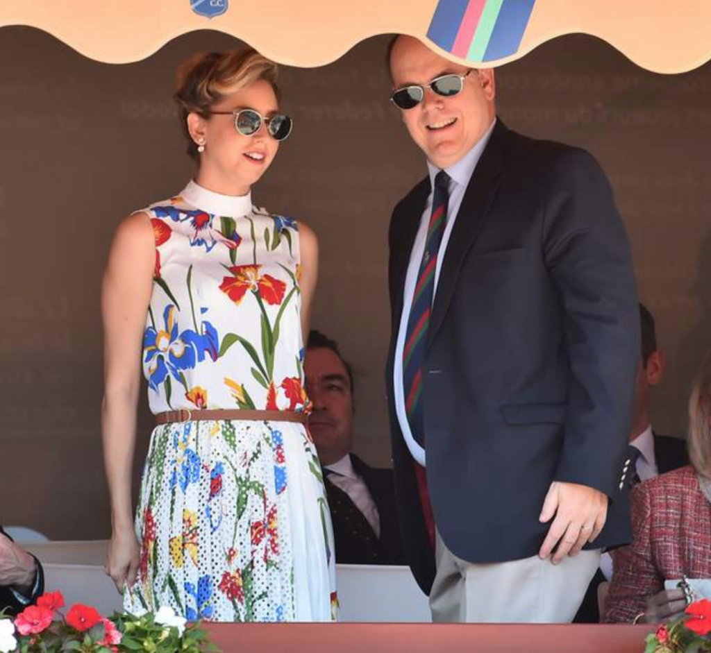 Jazmin Grace Grimaldi and Prince Albert II