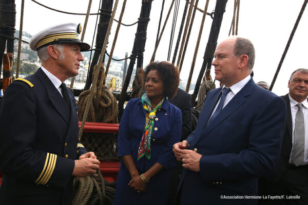 Prince Albert aboard the Hermione