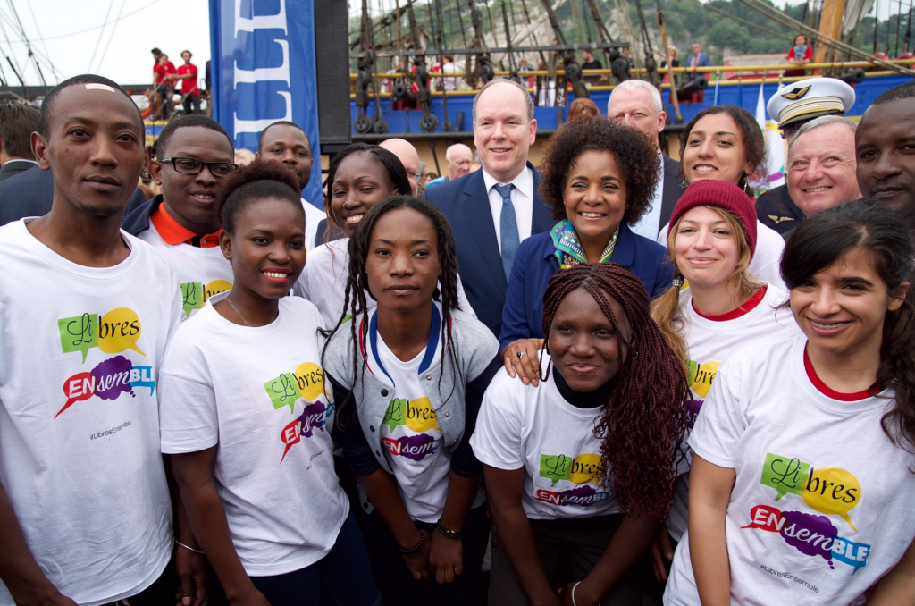 Prince Albert with General Secretary of La Francophonie, Michaëlle Jean