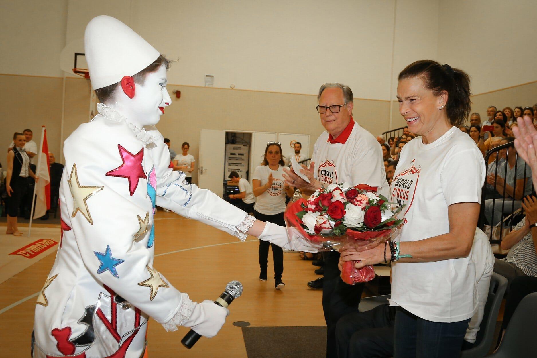 Princess Stephanie celebrating World Circus Day